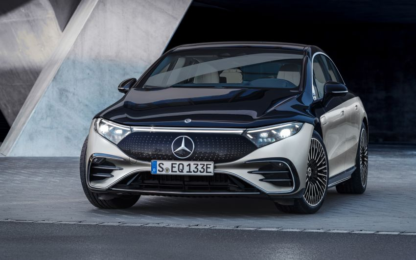 2022 Mercedes-Benz EQS flagship EV sedan debuts – two variants, up to 523 PS and 855 Nm, 770 km range Image #1280664