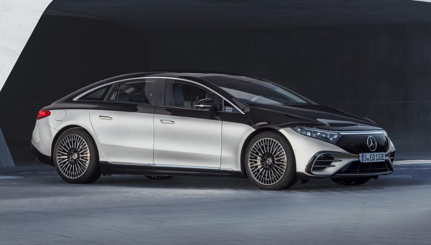 2022 Mercedes-Benz EQS flagship EV sedan debuts – two variants, up to 523 PS and 855 Nm, 770 km range Image #1280665