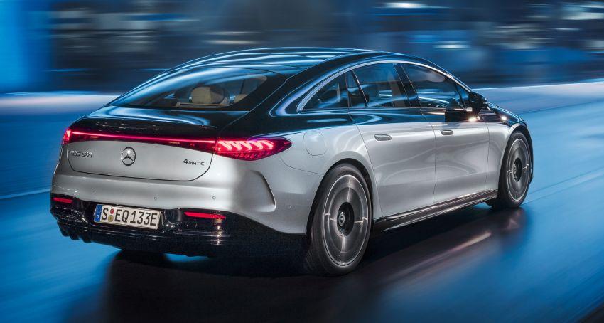 2022 Mercedes-Benz EQS flagship EV sedan debuts – two variants, up to 523 PS and 855 Nm, 770 km range Image #1280667