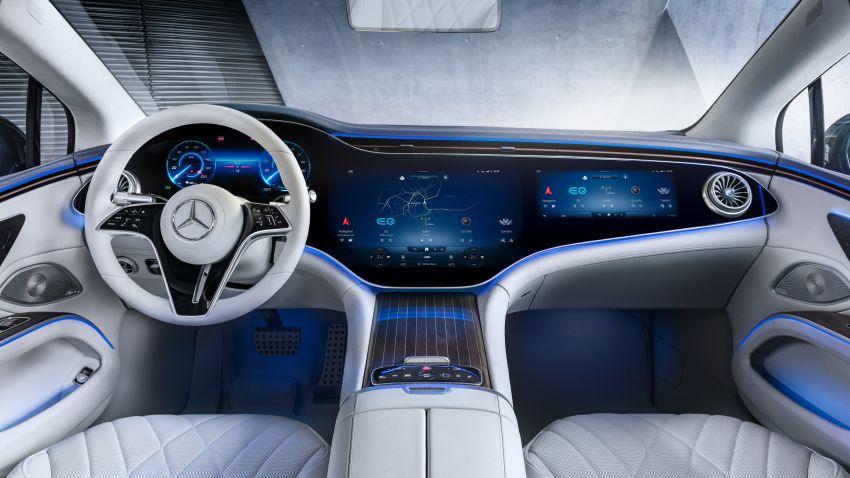 2022 Mercedes-Benz EQS flagship EV sedan debuts – two variants, up to 523 PS and 855 Nm, 770 km range Image #1280674