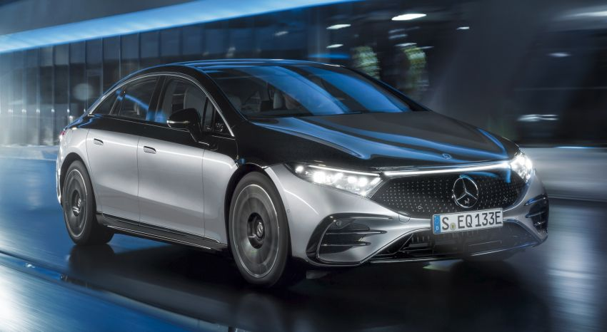 2022 Mercedes-Benz EQS flagship EV sedan debuts – two variants, up to 523 PS and 855 Nm, 770 km range Image #1280653