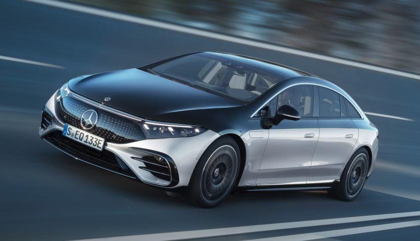 2022 Mercedes-Benz EQS flagship EV sedan debuts – two variants, up to 523 PS and 855 Nm, 770 km range Image #1280683