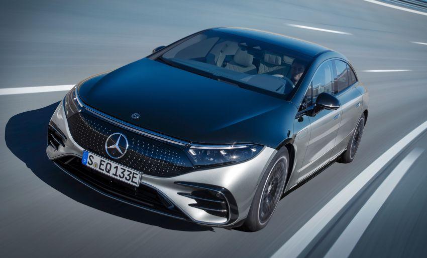 2022 Mercedes-Benz EQS flagship EV sedan debuts – two variants, up to 523 PS and 855 Nm, 770 km range Image #1280687