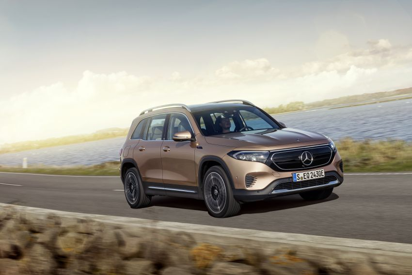Mercedes EQB debuts  – 288 hp, 419 km range; 100 kW DC charging from 10% to 80% in just over 30 minutes Image #1283232