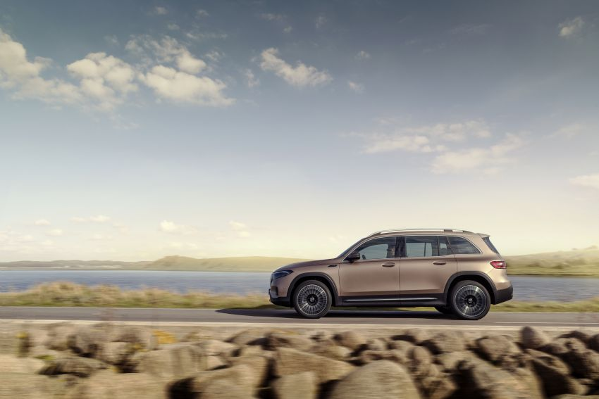 Mercedes EQB debuts  – 288 hp, 419 km range; 100 kW DC charging from 10% to 80% in just over 30 minutes Image #1283233