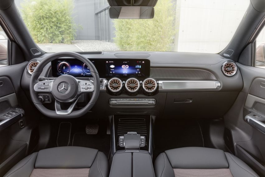 Mercedes EQB debuts  – 288 hp, 419 km range; 100 kW DC charging from 10% to 80% in just over 30 minutes Image #1283245