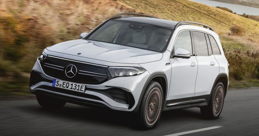 Mercedes EQB debuts  – 288 hp, 419 km range; 100 kW DC charging from 10% to 80% in just over 30 minutes Image #1283247