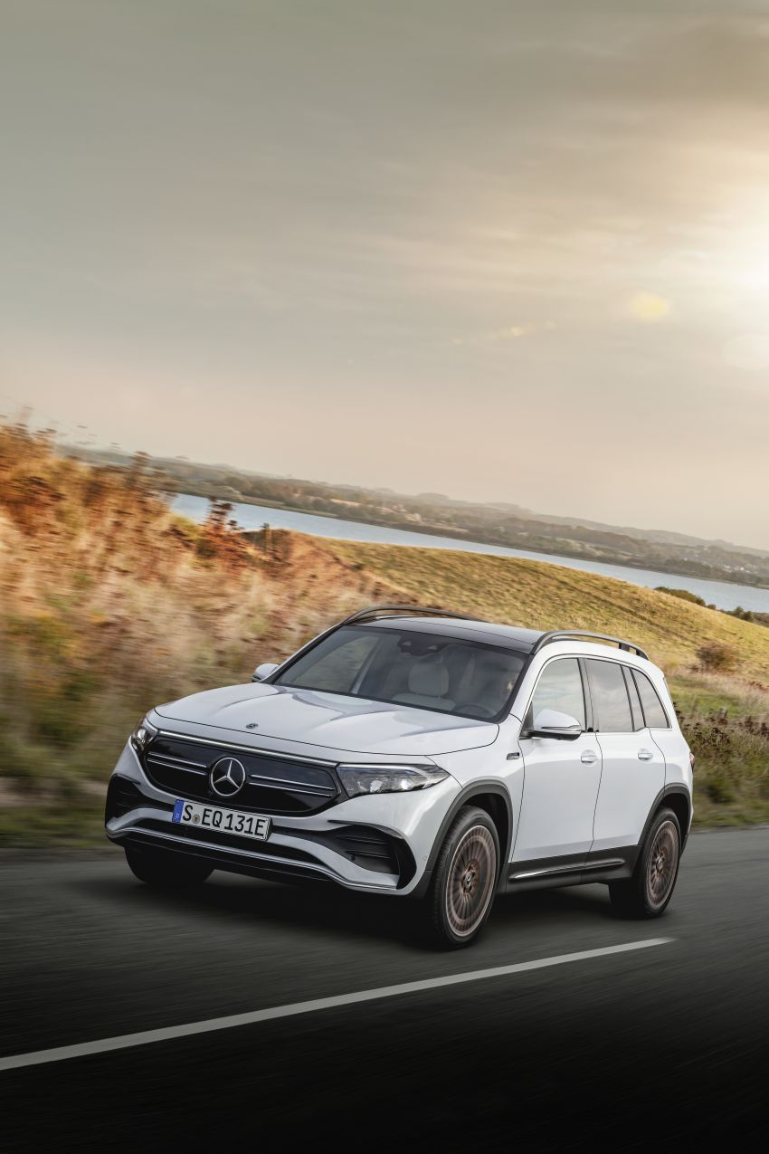 Mercedes EQB debuts  – 288 hp, 419 km range; 100 kW DC charging from 10% to 80% in just over 30 minutes Image #1283249