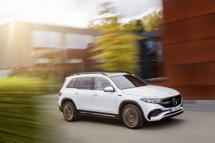 Mercedes EQB debuts  – 288 hp, 419 km range; 100 kW DC charging from 10% to 80% in just over 30 minutes Image #1283252