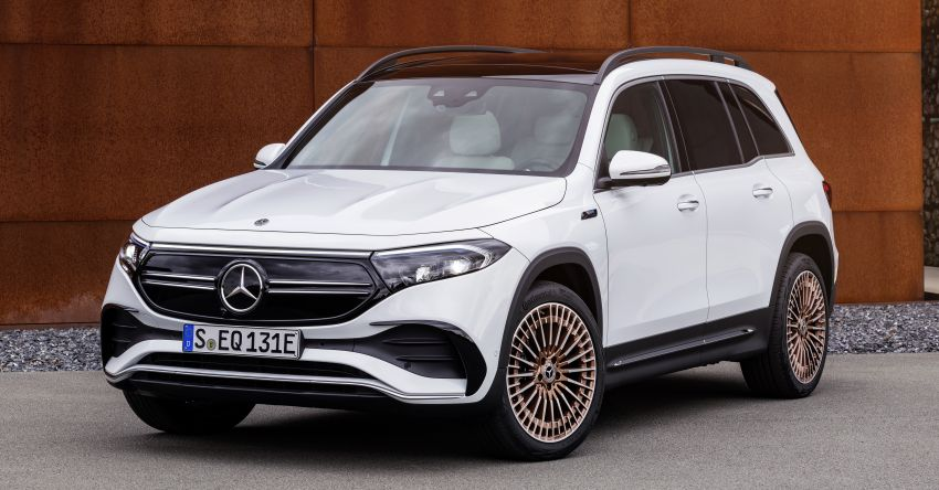 Mercedes EQB debuts  – 288 hp, 419 km range; 100 kW DC charging from 10% to 80% in just over 30 minutes Image #1283259