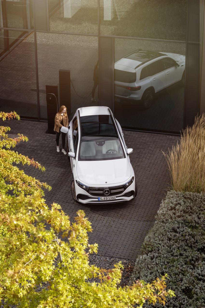 Mercedes EQB debuts  – 288 hp, 419 km range; 100 kW DC charging from 10% to 80% in just over 30 minutes Image #1283261