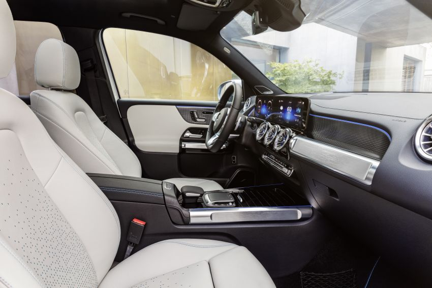 Mercedes EQB debuts  – 288 hp, 419 km range; 100 kW DC charging from 10% to 80% in just over 30 minutes Image #1283264