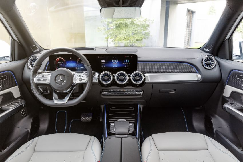 Mercedes EQB debuts  – 288 hp, 419 km range; 100 kW DC charging from 10% to 80% in just over 30 minutes Image #1283265