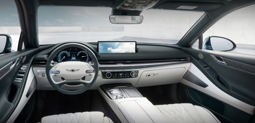 Genesis Electrified G80 debuts – 500 km NEDC range; 350 kW fast charging for 10-80% charge in 22 minutes Image #1283746