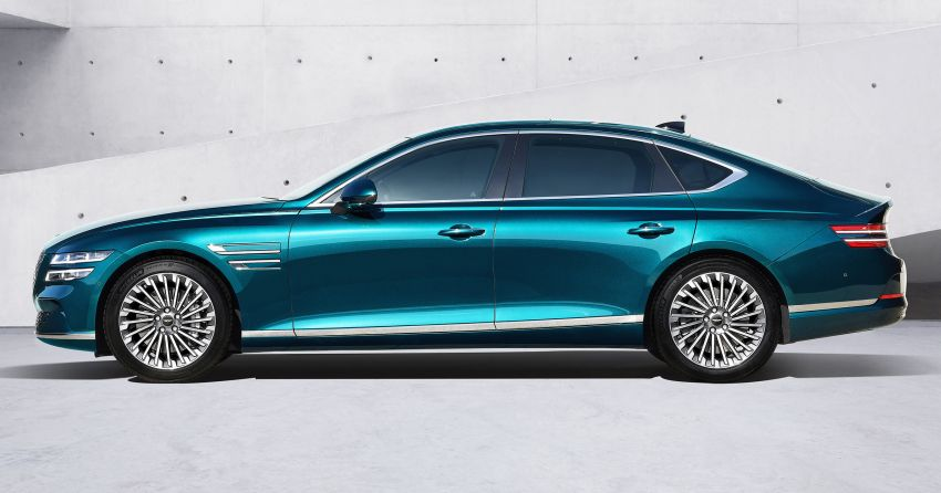 Genesis Electrified G80 debuts – 500 km NEDC range; 350 kW fast charging for 10-80% charge in 22 minutes Image #1283750