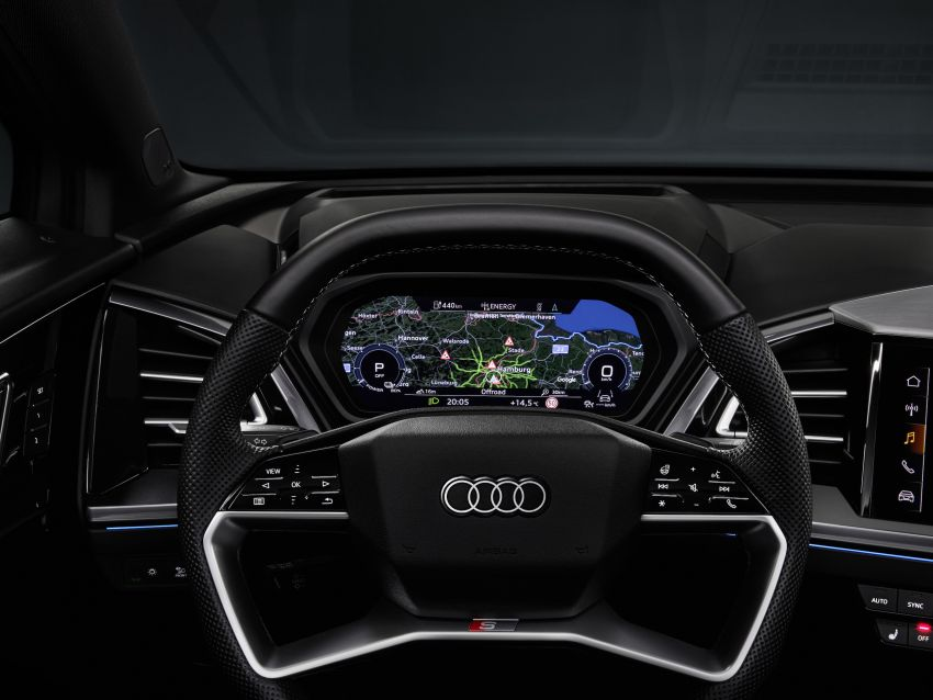 Audi Q4 e-tron, Q4 Sportback e-tron diperkenalkan – tiga varian penjana kuasa, jarak hingga 520 km, 299 PS Image #1281362