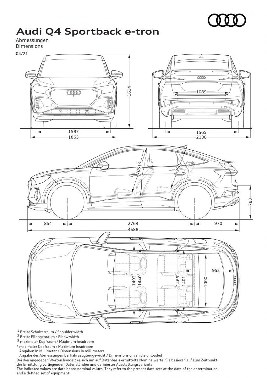 Audi Q4 e-tron, Q4 Sportback e-tron diperkenalkan – tiga varian penjana kuasa, jarak hingga 520 km, 299 PS Image #1281511