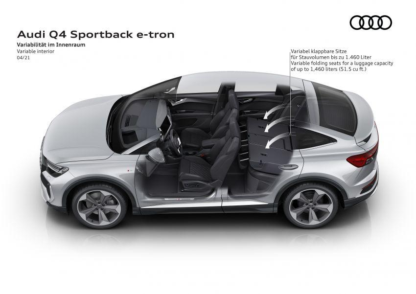 Audi Q4 e-tron, Q4 Sportback e-tron diperkenalkan – tiga varian penjana kuasa, jarak hingga 520 km, 299 PS Image #1281526