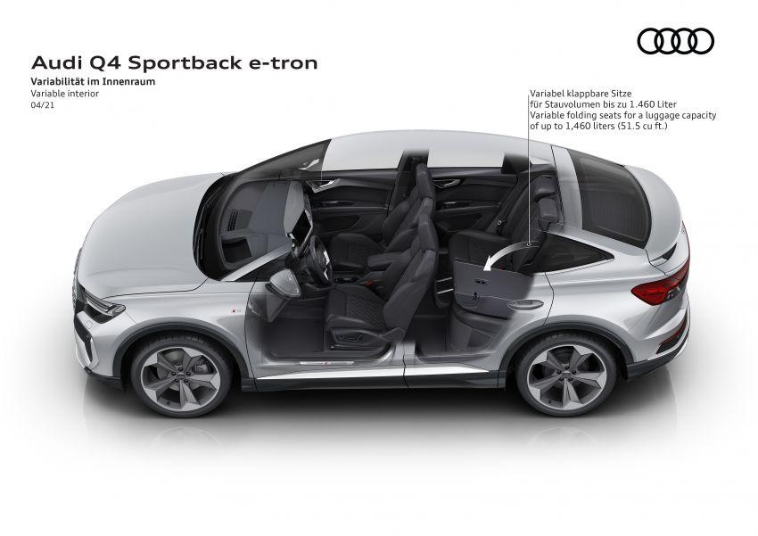 Audi Q4 e-tron, Q4 Sportback e-tron diperkenalkan – tiga varian penjana kuasa, jarak hingga 520 km, 299 PS Image #1281527
