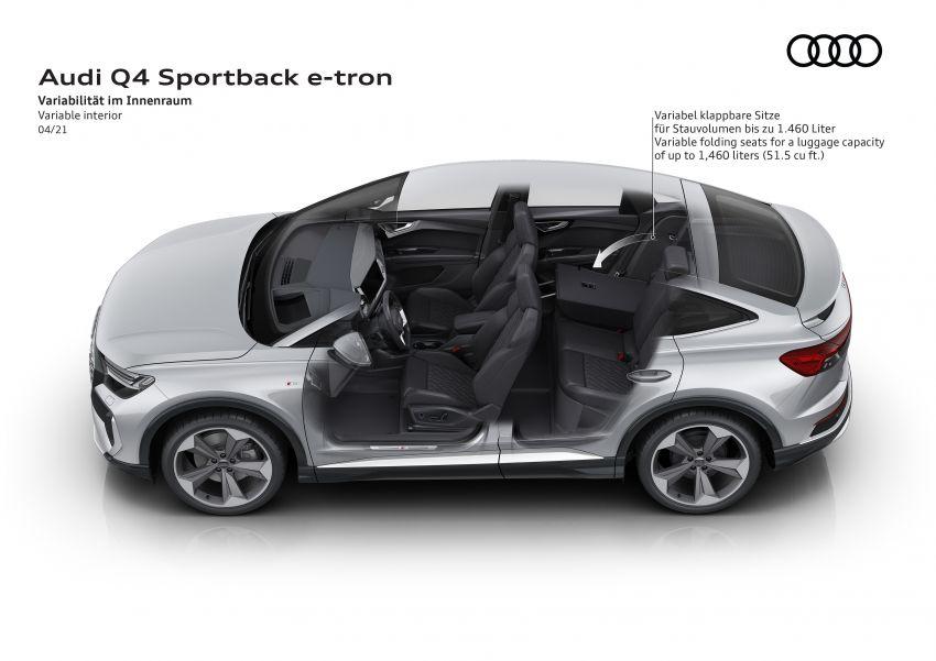 Audi Q4 e-tron, Q4 Sportback e-tron diperkenalkan – tiga varian penjana kuasa, jarak hingga 520 km, 299 PS Image #1281529