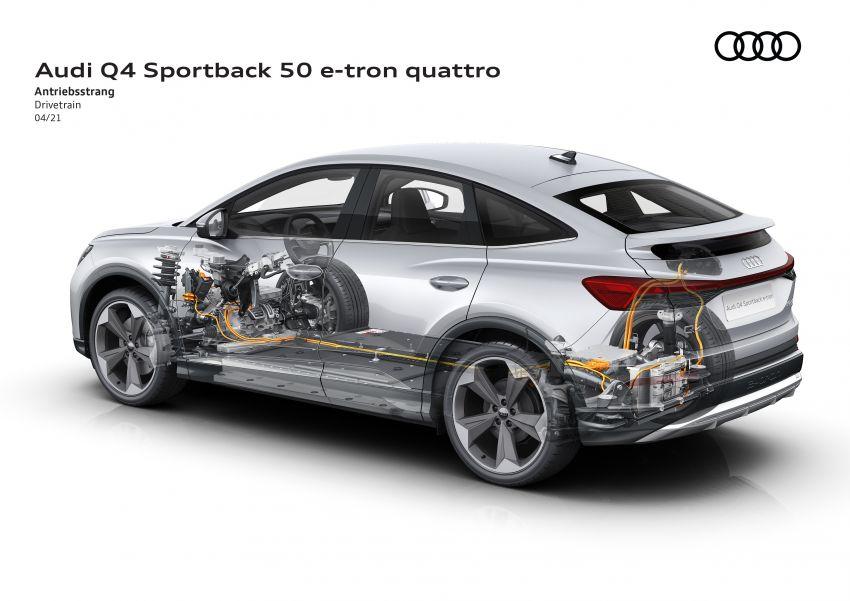 Audi Q4 e-tron, Q4 Sportback e-tron diperkenalkan – tiga varian penjana kuasa, jarak hingga 520 km, 299 PS Image #1281530