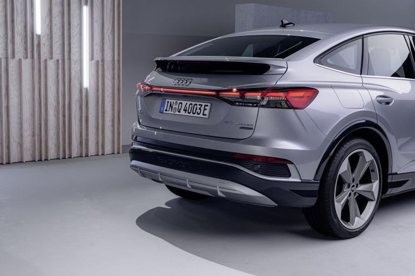 Audi Q4 e-tron, Q4 Sportback e-tron diperkenalkan – tiga varian penjana kuasa, jarak hingga 520 km, 299 PS Image #1281649