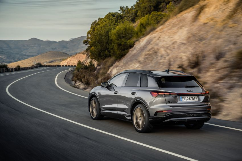 Audi Q4 e-tron, Q4 Sportback e-tron diperkenalkan – tiga varian penjana kuasa, jarak hingga 520 km, 299 PS Image #1281250