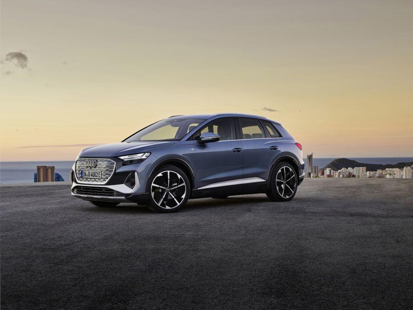 Audi Q4 e-tron, Q4 Sportback e-tron diperkenalkan – tiga varian penjana kuasa, jarak hingga 520 km, 299 PS Image #1281300