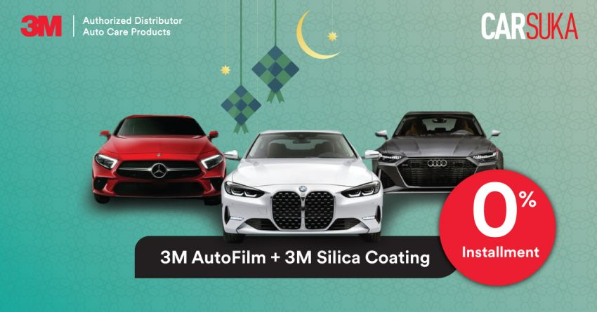 AD: Get 0% instalment, plus free first month instalment on 3M AutoFilm, Silica Coating with Carsuka this Raya! Image #1279539