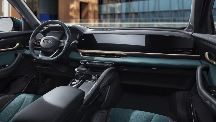 Geely Xingyue L new pix, details – 238 PS/350 Nm 2.0L turbo, AWD, 0-100 km/h 7.7 secs, Emerald Blue colour Image #1273223