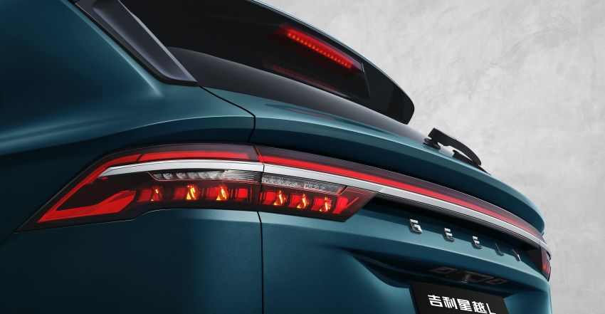 Geely Xingyue L new pix, details – 238 PS/350 Nm 2.0L turbo, AWD, 0-100 km/h 7.7 secs, Emerald Blue colour Image #1273218