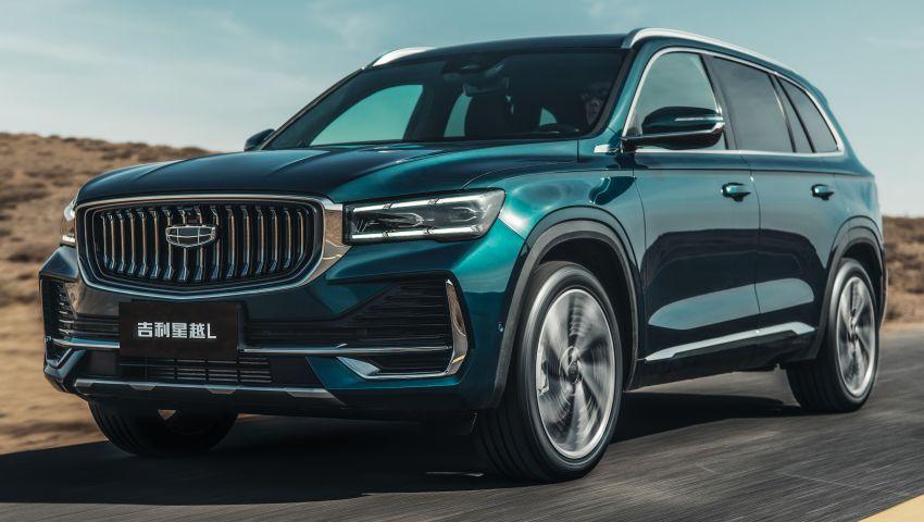 Geely Xingyue L new pix, details – 238 PS/350 Nm 2.0L turbo, AWD, 0-100 km/h 7.7 secs, Emerald Blue colour Image #1273220