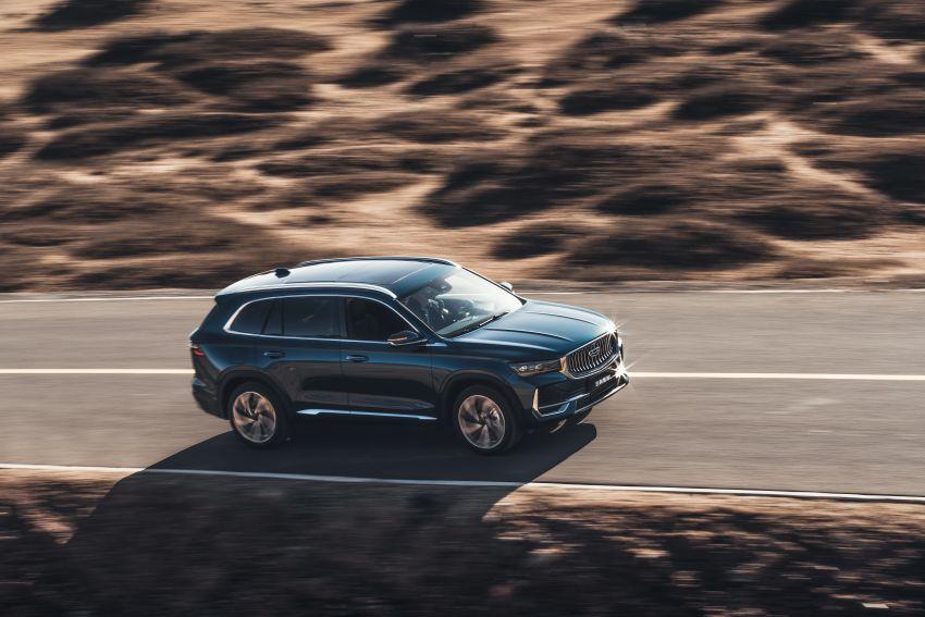 Geely Xingyue L new pix, details – 238 PS/350 Nm 2.0L turbo, AWD, 0-100 km/h 7.7 secs, Emerald Blue colour Image #1273221