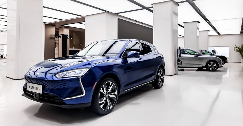Huawei Seres SF5 debuts at Auto Shanghai – range-extended EV crossover with up to 1,000 km range Image #1284954