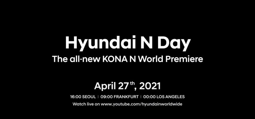 Hyundai Kona N teased for N Day debut on April 27 Image #1281283
