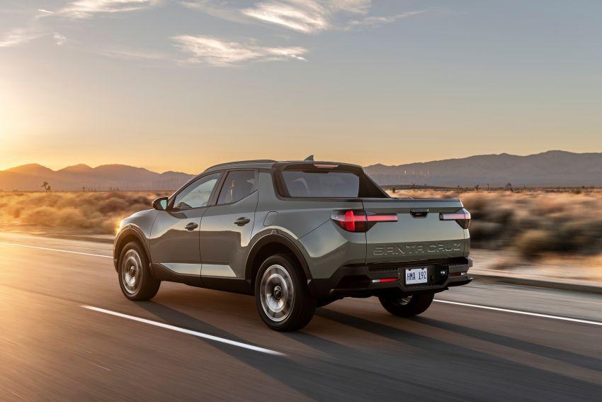 Hyundai Santa Cruz didedahkan – trak pikap dengan casis SUV, pilihan enjin petrol 2.5L NA dan Turbo Image #1280619