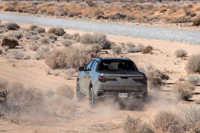 Hyundai Santa Cruz didedahkan – trak pikap dengan casis SUV, pilihan enjin petrol 2.5L NA dan Turbo Image #1280622