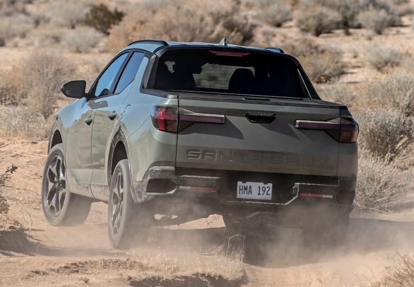 Hyundai Santa Cruz didedahkan – trak pikap dengan casis SUV, pilihan enjin petrol 2.5L NA dan Turbo Image #1280623
