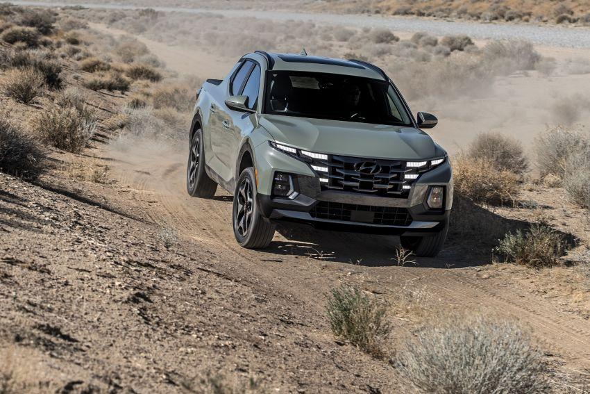 Hyundai Santa Cruz didedahkan – trak pikap dengan casis SUV, pilihan enjin petrol 2.5L NA dan Turbo Image #1280626