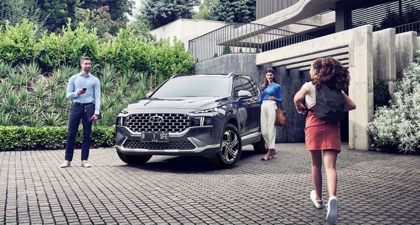 2021 Hyundai Santa Fe facelift launched in Indonesia – 2.5L NA petrol, 2.2L turbodiesel, FWD, from RM162k Image #1276122