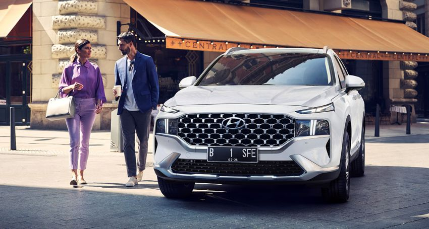 2021 Hyundai Santa Fe facelift launched in Indonesia – 2.5L NA petrol, 2.2L turbodiesel, FWD, from RM162k Image #1276123