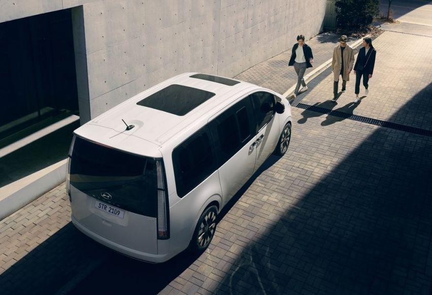 Hyundai Staria – perincian didedahkan; lebih besar dari Starex, pilihan enjin petrol V6 dan turbodiesel Image #1278510