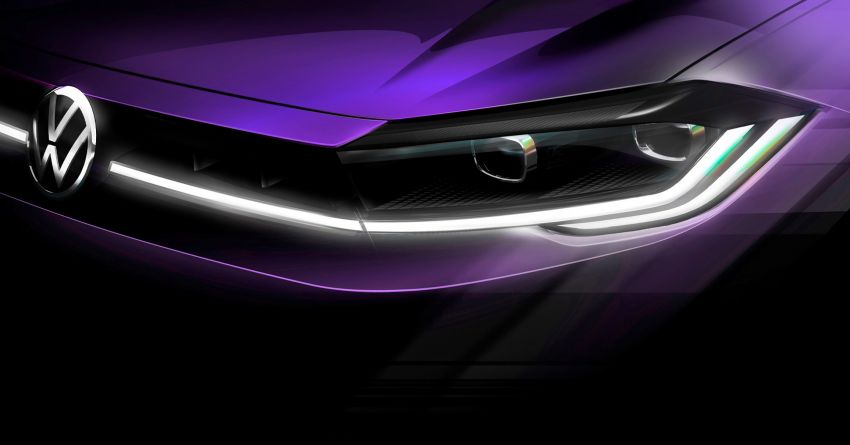 Mk6 Volkswagen Polo facelift teaser image released – new nose, full-width LED DRLs, April 22 world debut Image #1284244
