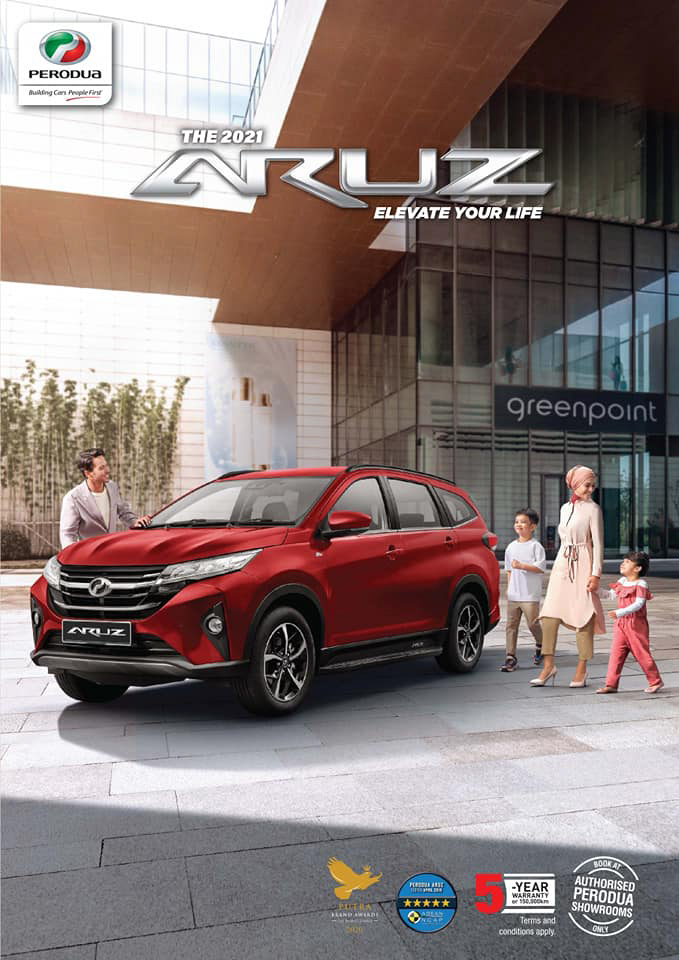 2021 Perodua Aruz – SUV updated with new Passion Red paint, integrated side steps and auto-lock function Image #1292777