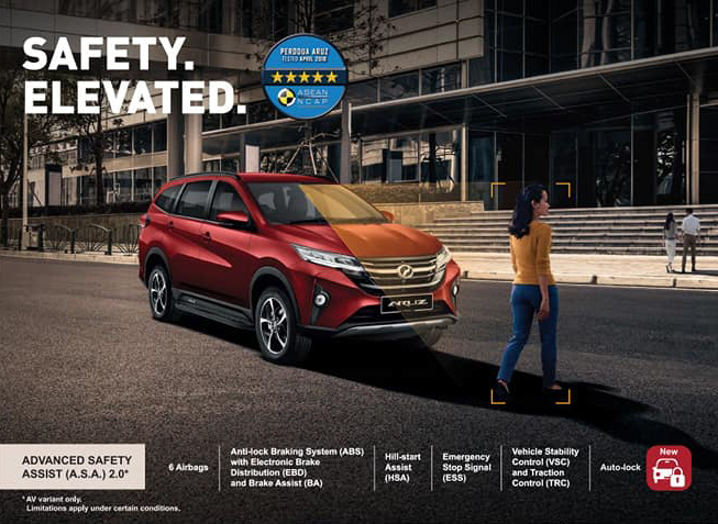 2021 Perodua Aruz – SUV updated with new Passion Red paint, integrated side steps and auto-lock function Image #1292782