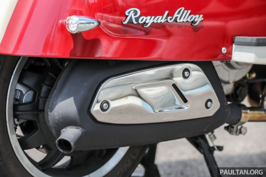 REVIEW: 2021 Royal Alloy TG250 – riding <em>la dolce vita</em>, RM19,800, made in Thailand, all classic scooter style Image #1291882