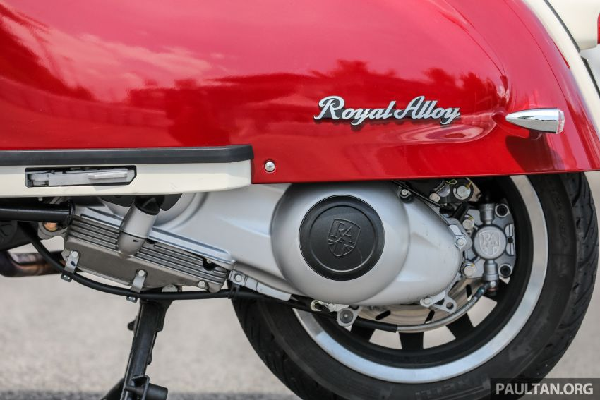 REVIEW: 2021 Royal Alloy TG250 – riding <em>la dolce vita</em>, RM19,800, made in Thailand, all classic scooter style Image #1291883