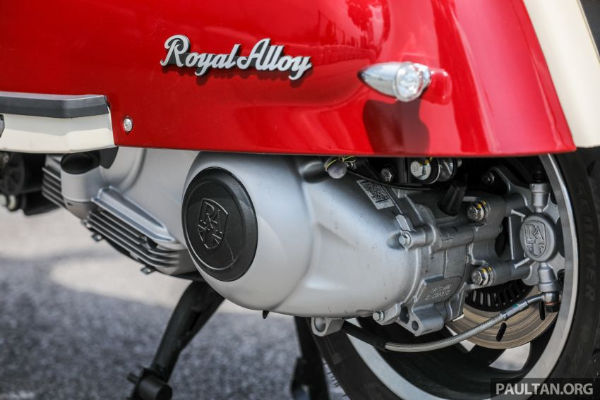 REVIEW: 2021 Royal Alloy TG250 – riding <em>la dolce vita</em>, RM19,800, made in Thailand, all classic scooter style Image #1291884