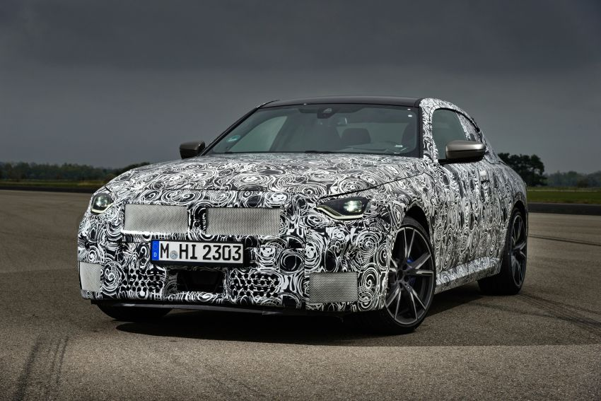 2022 BMW 2 Series Coupe officially teased before debut – M240i xDrive to lead variant range with 374 PS Image #1294298