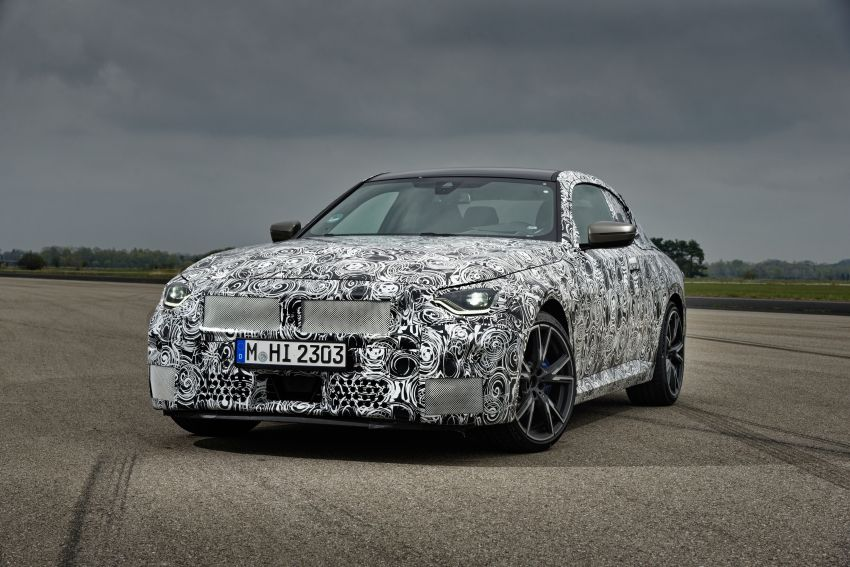2022 BMW 2 Series Coupe officially teased before debut – M240i xDrive to lead variant range with 374 PS Image #1294299